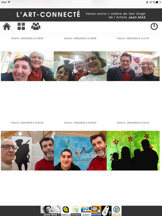 Expo : l'Art Connecté : concours de selfie organisé par WAMS.io