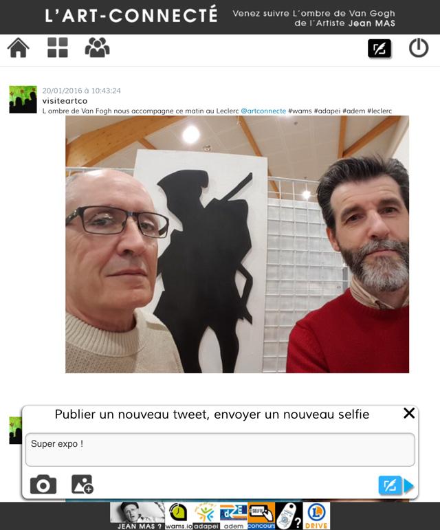 Expo : l'Art Connecté : l'artiste, Jean Mas (à gauche) et Stéphane Barret, président de l'ADEM
