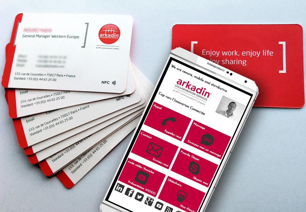 Le Groupe ARKADIN Choisit WAMS Pour Ses Cartes De Visite Connectees